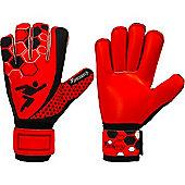 Precision Gk Matrix Lumina Rollfinger Protection Goalkeeper Gloves Size - Red