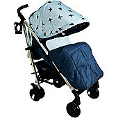 My Babiie Katie Piper MB51 Believe Stroller (Blue Swallows)