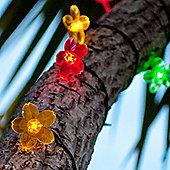 30 Multi Coloured LED Flower Solar Garden Fairy Lights