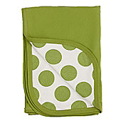 Pea print reversible blanket - Green