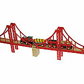 Bigjigs Wooden Railway Double Suspenion Bridge
