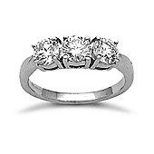 18 Carat White Gold 1.50ct 3 Stone Diamond Ring