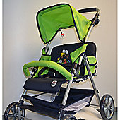 Chic Toys Tandem Twin Buggy Green Bumblebee