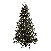 6ft Pre Lit Snowball Pine Christmas Tree (400 white lights)