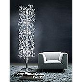 Metal Lux Astro Ten Light Floor Lamp with 24k Gold Body - Blue Glass