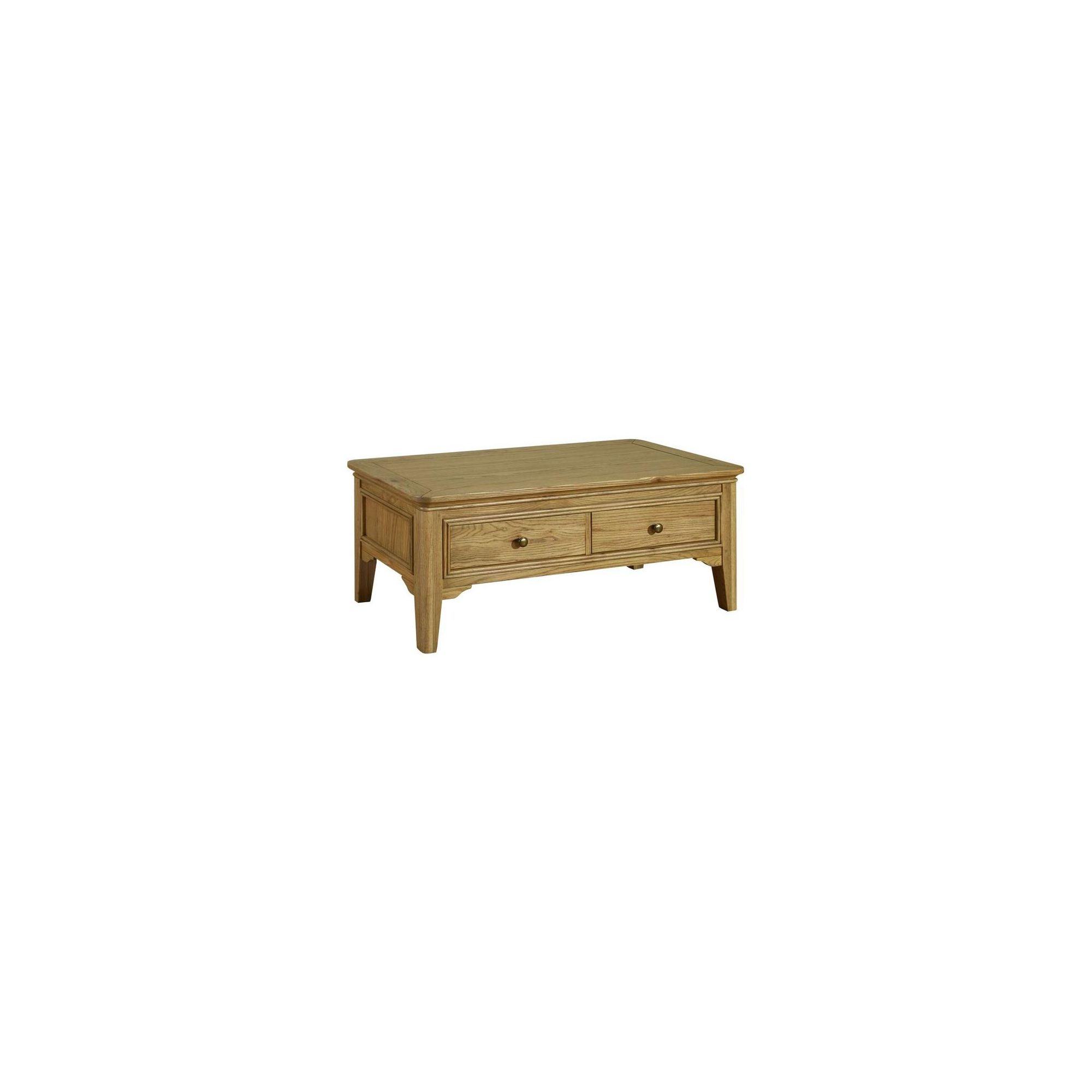Kelburn Furniture Loire Coffee Table in Light Oak Stain and Satin Lacquer at Tescos Direct
