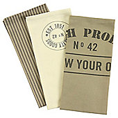Fresh Produce Tea Towel, 3 Pack