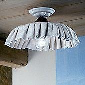 Ferroluce Modena 21 cm 1 Light Flush Light