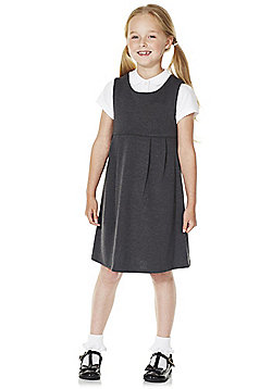 F&F School Girls Jersey Pinafore - Grey