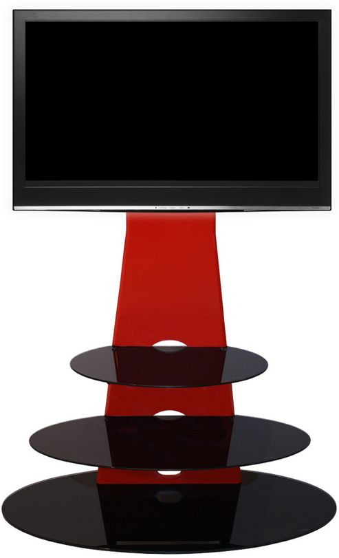 Gecko Orbit 1000 Gloss Red TV Stand for 32 inch -55 inch TVs