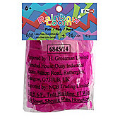 Rainbow Loom Official Pink JELLY Rubber Bands Refill 600 count + 24 C-clips