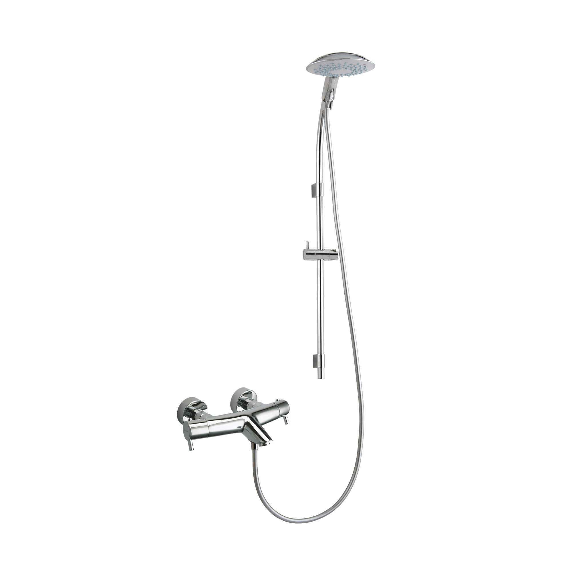 Ramon Soler Thermodrako Exposed Thermostatic Bath/Shower Mixer with Saturno Shower Kit at Tesco Direct