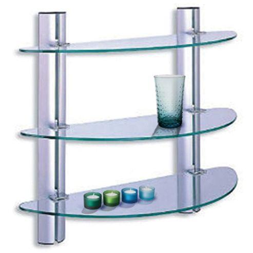 buy splash 3 tier glass bathroom wall storage shelves. Black Bedroom Furniture Sets. Home Design Ideas