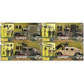 World Peacekeepers Humvee and Figures(4 Styles Available One Supplied At Random) - Toys/Games