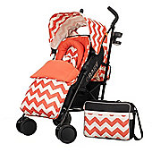 OBaby Zeal Stroller Bundle (ZigZag Orange)