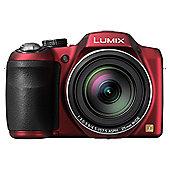 "Panasonic LZ30 Digital Bridge Camera, Red, 16MP, 35x Optical Zoom, 3"" LCD Screen"