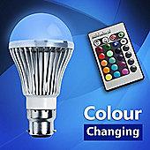 MiniSun 5W BC B22 Colour Changing Remote Control LED Light Bulb