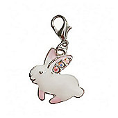White Rabbit Clip on Charm