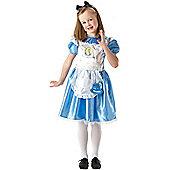 Fancy Dress - Deluxe Alice In Wonderland - Girl's Medium - Rubies