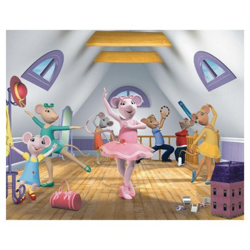 Angelina Ballerina Wallpaper Mural 8ft x 10ft