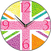 Smith & Taylor Union Jack Multiflora Round Wall Clock