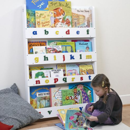 Tidy Books The Tidy Books Childrens Bookcase (White Lowercase)