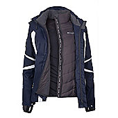 Arosa Extreme Womens Hooded Waterproof 3 in 1 Ski Snowboard Winter Jacket - Blue