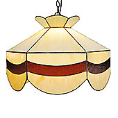 Loxton Lighting Tiffany Bistro Scalloped Lamp Shade - Mottled Brown