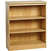 Enduro Three Shelf Wide Bookcase - Walnut