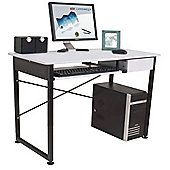 Bale - Workstation / Computer Desk With Drawer - White / Black