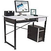 Bale - Workstation / Computer Desk With Drawer - White / Black