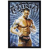 WWE Black Wooden Framed Batista Poster