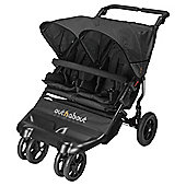 Out n About Little Nipper Double Pushchair, Black