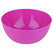 Plastic Picnic Bowl, Fuchsia