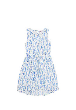 F&F Seahorse Print Dress - Blue & White