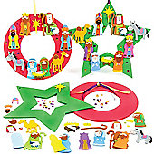 Christmas Kids Crafts Wreath Decorations (2 Pcs)
