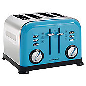 Morphy Richards 44799 Accents 4 Slice Toaster - Cyan Blue