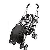 Genesis Shower Proof Zebra Print & Black Universal Footmuff Cosy Toes