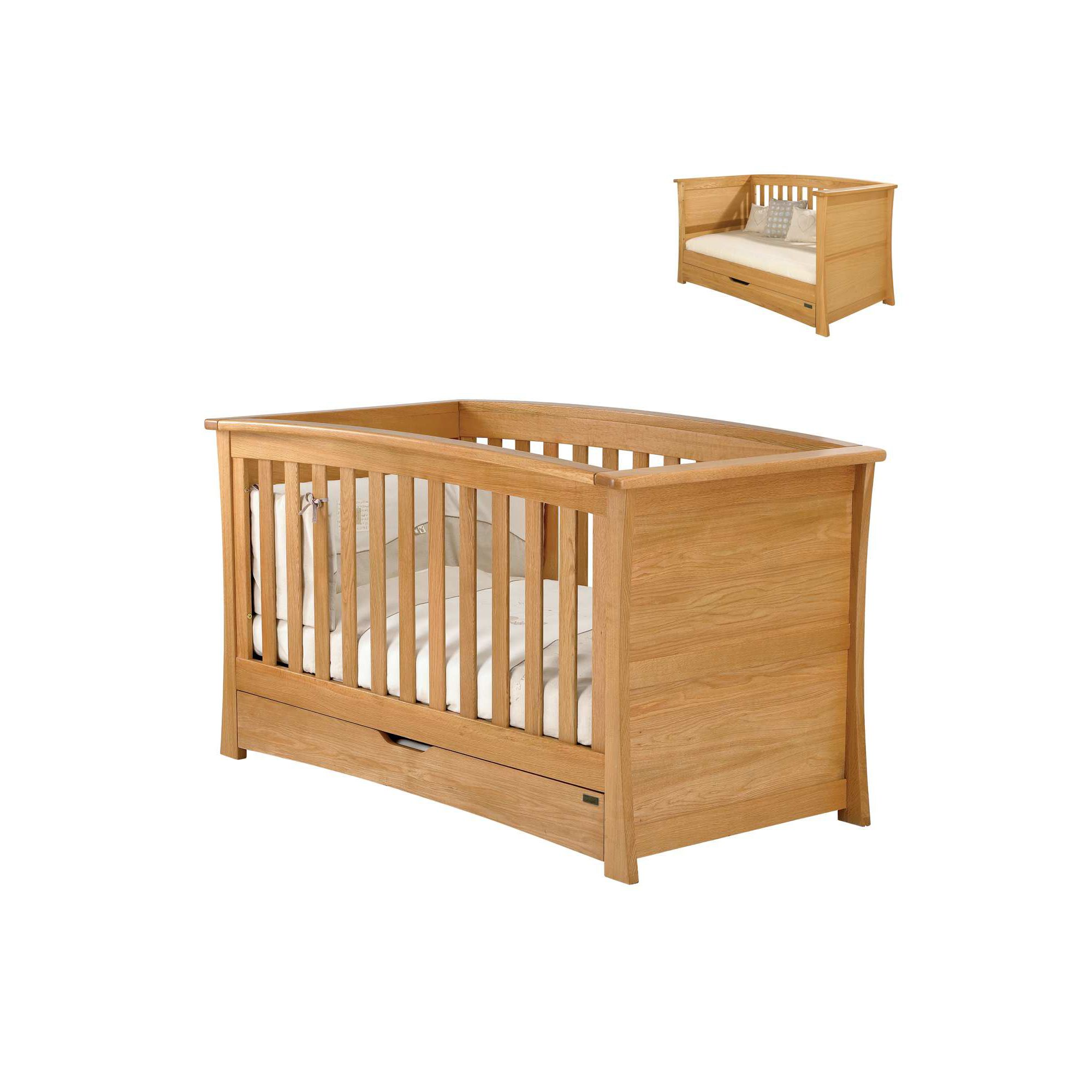 Mamas & Papas - Ocean Cot/Day Bed - Golden Oak at Tesco Direct