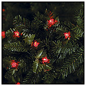 Tesco Holly And Berry LED Christmas Lights, Battery Operated
