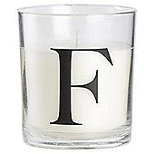 Sweet Vanilla Alphabet Candle Letter F