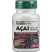 Natures Plus Acai 500mg 60 Veg Capsules