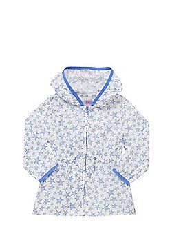 F&F Star Print Hooded Mac - Blue