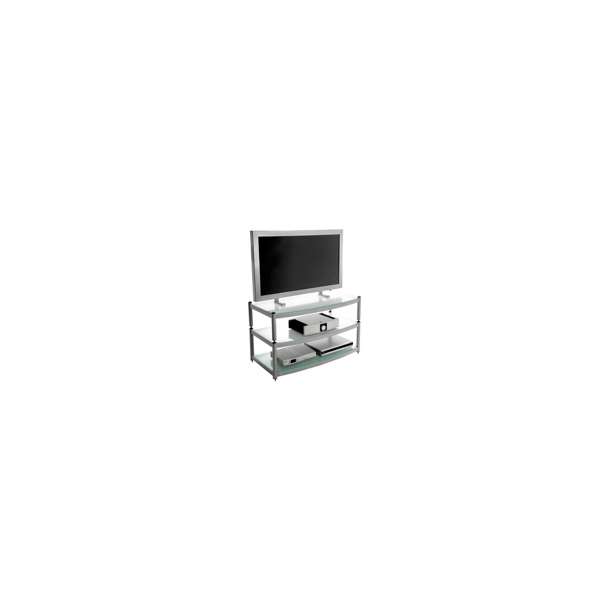 Atacama Audio Equinox Glass TV Stand for LCD / Plasmas - Silver/ Arctic Frost at Tesco Direct
