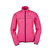 Force Womens Water-Resistant Running Jacket - Pink