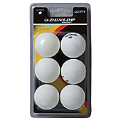 Dunlop Table Tennis Balls 6 Pack.