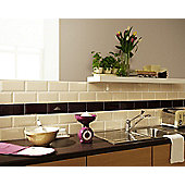 Metro Black Ceramic Wall Tile 100x200