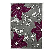 Oriental Carpets & Rugs Verona OC15 Grey/Purple Rug - 120cm x 170cm