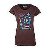 Gardening Womens Relaxed Tee Shirt 100% Cotton T-Shirt - Brown