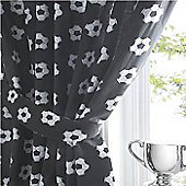 Football Star Curtains, 72s, Black and White